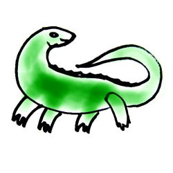 Рисунок Ящерица