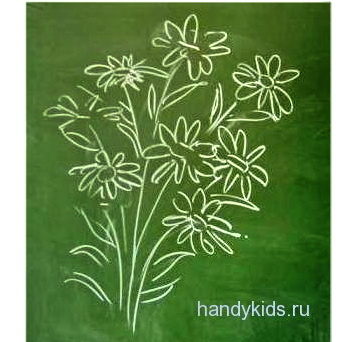 Букет цветов рисунок