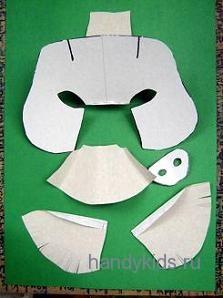 Детали маски кабана