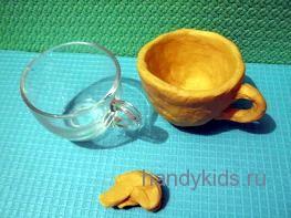 Лепка чашки конструктивным способом