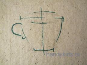 Рисуем чашку с натуры