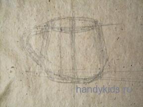 Рисуем кружку с натуры