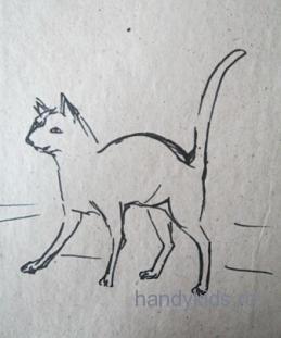 Рисунок-кошка