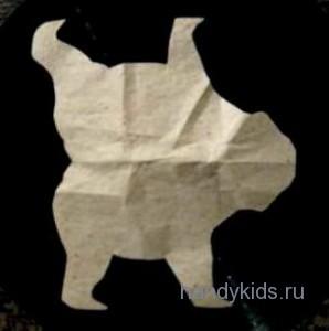 Выкройка модели бурого  медведя