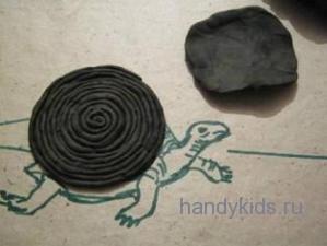 Как слепить черепаху