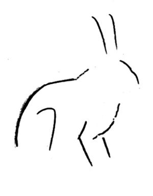 Рисуем зайца