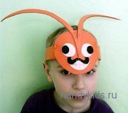 Усики жука на голову своими руками