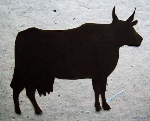 Силуэт коровы