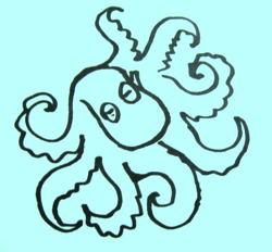 Осьминог рисунок