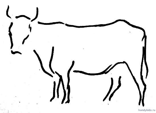 Рисунок  корова