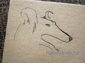 Как нарисовать голову собаки