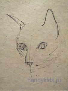 Рисуем кошечку