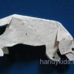Сделаем модели собаки и кошки из бумаги или картона