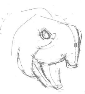 Голова черепахи эскиз
