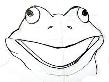 Рисунок Голова лягушки