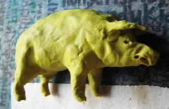 Лепка Свинья