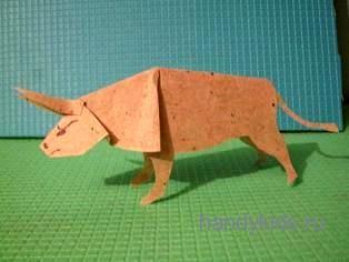Бумажная модель быка