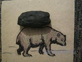 Приступим к лепке медведя
