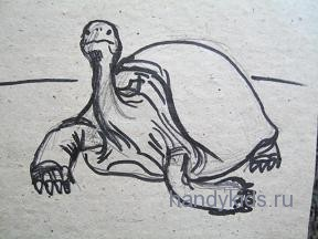 Рисунок ползущей черепахи