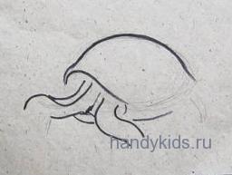 Рисуем голову и ноги