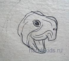 Рисуем голову черепахи