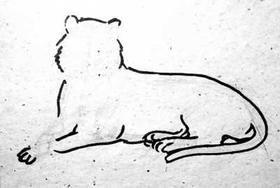 Тигр-поэтапный рисунок