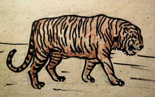 Реалистический рисунок Тигр