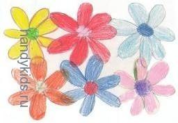 РаРаска-штриховка Цветы