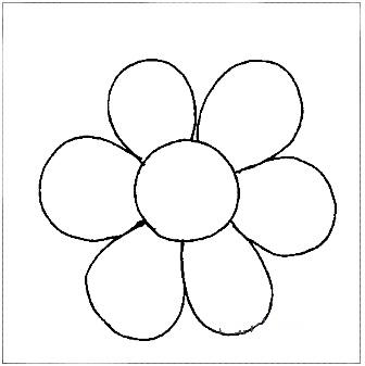 Раскраска -цветок