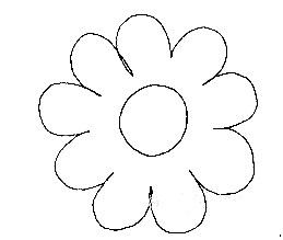 Штриховка-раскраска Цветок