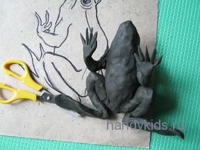 Вырежем пальцы  лягушке