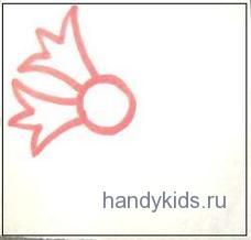 Василёк -раскраска с дорисовыванием