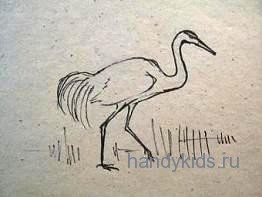 Рисуем идущую птицу
