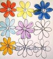 Раскрашиваем цветы контрастно