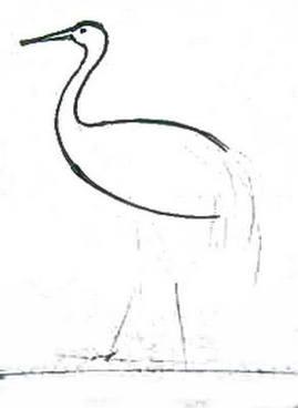 Рисуем журавля