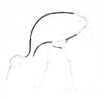 Нарисуем журавля