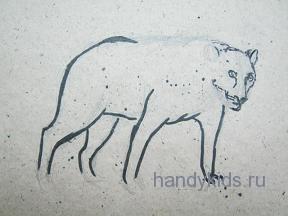 Рисуем фигуру хищника.