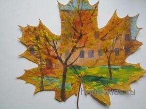 Роспись по листьям деревьев
