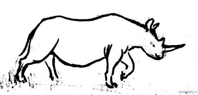 Рисунок африканский носорог