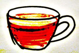 Рисунок чашки с чаем
