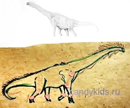 Рисунок  брахиозавр 17