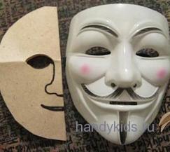 Разметка черт лица маски