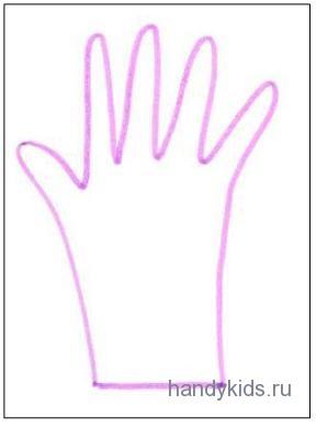 Раскраска  перчатка