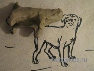 Как лепить собаку