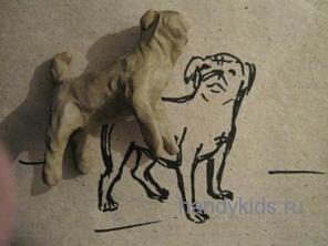 Лепка-собака