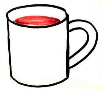Кружка с чаем рисунок
