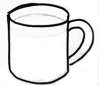 Кружка с чаем рисунок.