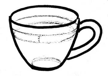 Нарисуем чашку с чаем