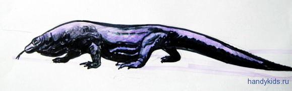 Рисунок -комодский дракон 3