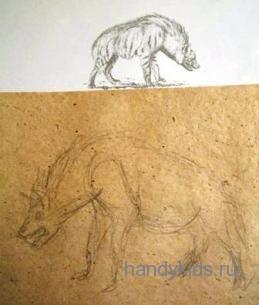 Рисунок гиены